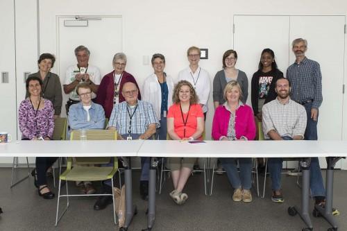 Team Echinacea at the volunteer citizen scientist luncheon at the Chicago Botanic Garden.