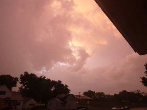 The beautiful clouds from last nights storm
