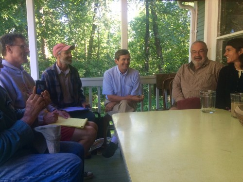 Local beekeeper and activist Steve Ellis visited this morning