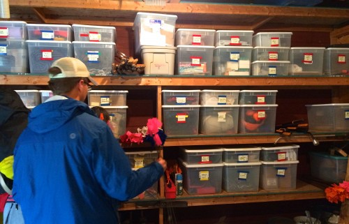 Ben revels in the beauty that is g3. Tubs are now labeled and color-coded.